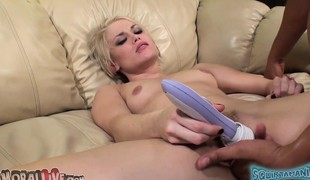 Sensuous girl Ash Hollywood relishes each thrust of dick in her cunt