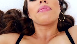 Black haired bootyful filth Tiffany Doll gets her anus toyed rough after steamy fisting
