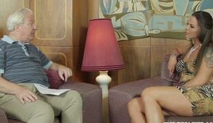 Smoking hot Simony Diamond giving interview on her career