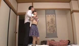 Housewife Yuu Kawakami Fucked Hard While Some other Dude Watches