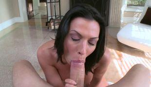 Rachel Starr POV blowjob shows her astounding oral skills