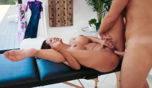 Milf finds satisfaction with a large cock masseur
