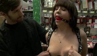 Slut submits will not hear of sexy muff completely during a group torture