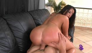 Biggest rod makes slutty wench explode from orgasms