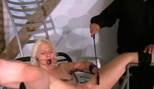 Two slaves extraordinary pussy punishments and whipping