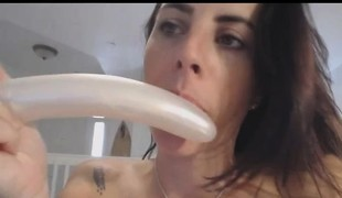 Big Titted Honey Gagging And Machine Fuck