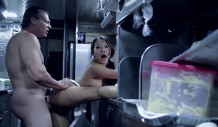Asa Akira gets cum drenched on livecam for your viewing fun