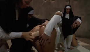 A life in the convent is really boring. There are so many rules and restrictions. So the nuns pass the free time they have by having group sex with every other.