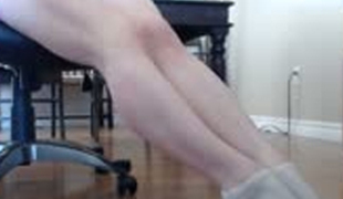 Gemma Minx showing her beautiful legs and smooth soles on camera