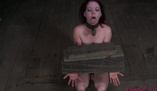 Sweet dark brown chick Lila Katt is punished by her mistress