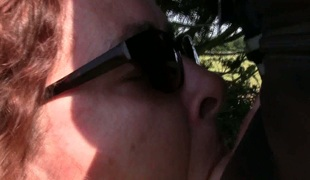 Lustful slut looks more good with her sunglasses on and she blows like a pro