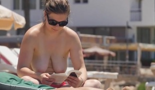 Beach spy compilation with topless sweethearts