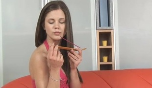 Sex Tool in Caprice pinky anal opening