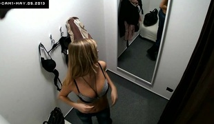 Here's spying eradicate affect changing rooms! We shot at two security cameras hidden in cabins of an underclothing shop. Beautiful Czech girls fitting on bras, panties and sexy lingerie out of calmness eradicate affect slightest idea they are gross wa