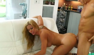 Blonde Alexis Fawx acquires face drilled by Marcus London for your viewing fun