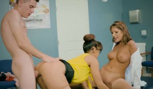 Lucky dude bonks both his teacher and the schools nurse