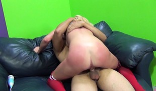 blonde hardcore strømper fingring ass små pupper