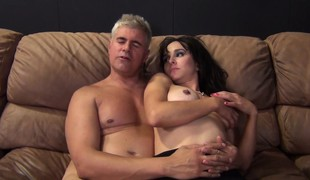 Dazzling dark brown with big tits Cytherea fucks a hard pole and squirts