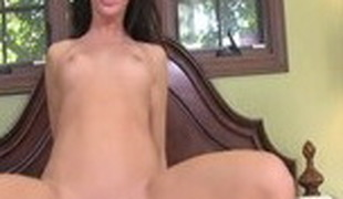 Eager pornstar Mia Gold in horny large cocks, brunette sex clip