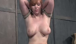Breasty whore Lauren Phillips is all tied up and willing for torment