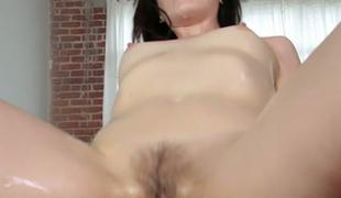 Spunky bombshell Sarah Shevon loves oily freaky ass sex