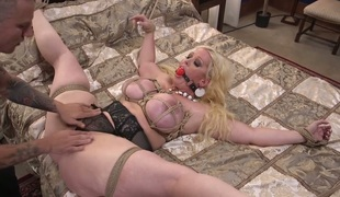 Horny slut Alura Jenson is bound up and fucked