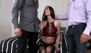 anal babe vakker hardcore dobbel penetrasjon blowjob strømper sædsprut facial truser