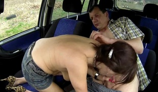 Czech mother I'd like to fuck Hooker Screwed in Car
