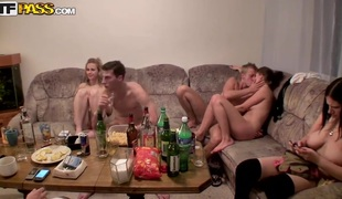 Hawt college fucking party with drunk and exposed Czech