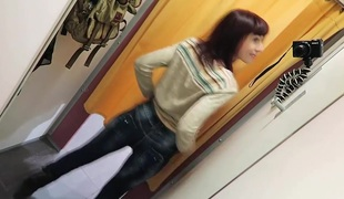 Public Anal Fisting in dressing room