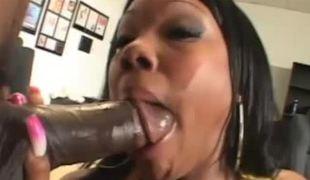 Perverted Lexi chokes on 3 massive shafts