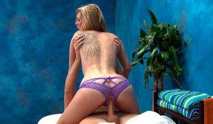 Tiny girl disobeys her massage ottoman
