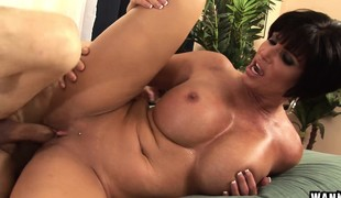 Shay Fox exposes her priceless large breasts and enjoys a deep pounding