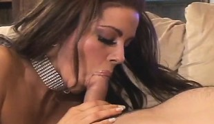 Victoria Valentino gives a sensual blowjob and then acquires screwed good