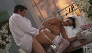 Dylan Ryder shows her love for snake sucking in blowjob action with lustful man