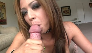 Jonni Darkko uses his vertical love stick to make blowjob junkie Oriental Mia Lelani with huge jugs cheerful