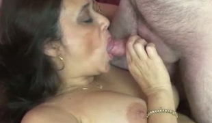 Curvy MILF Alesia nailed hard in her snatch in a missionary position