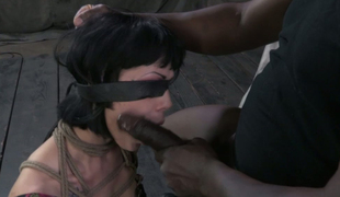 Her mouth and bawdy cleft are made for coarse BDSM pounding