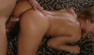 Classy blonde screwed in from behind by her husband in their bedroom