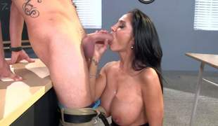 Ava Addams is a slutty MILF teacher with ideal big boobs, This babe bares her massive hooters with the addition of gets down on her knees before her student finds his schlong sucked. This ardent big titted lady copulates like a 1st rate hoe!