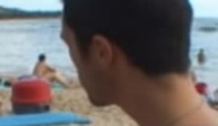 Sexy Venus gets seduced on the sunny beach and banged on the sofa