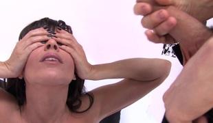 puppene brunette anal kjønn hardcore pornostjerne sædsprut facial ass fitte