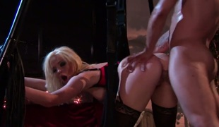 Alexis Texas gags on hard sausage of lustful fellow