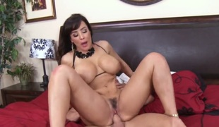 Johnny Sins makes his throbbing meat stick disappear in breathtakingly beautiful Lisa Anns love tunnel