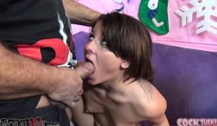 brunette pornostjerne blowjob facial gruppesex