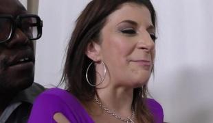 Mom Sara Jay gets fucked by 3 big dark cocks