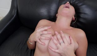 Latina with valuable natural boobs is getting a really good titfuck