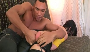 Philander with large consummate butt confines on hard ramrod of her BF