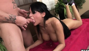 Bodacious European cutie Alison Star takes a biggest rod down her throat