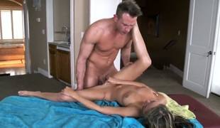 Sex massage with plenty of rubbing